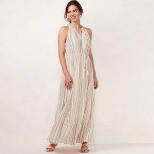 Lauren Conrad Print Halter Maxi Dress